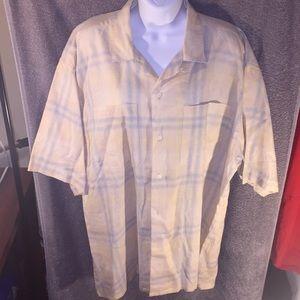 Dior Short Sleeve Button Down Shirt, size XL